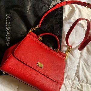 Red dolce& gabbana purse/ crossbody